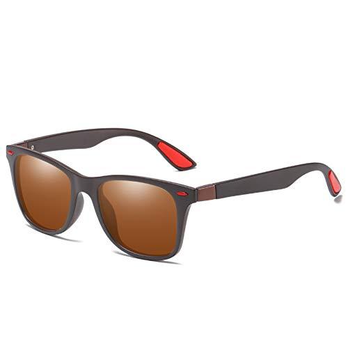 LKHJ Sonnenbrillen Polarisierte Sonnenbrille Männer Frauen Fahren Square Frame Sonnenbrille Männliche Brille Uv400