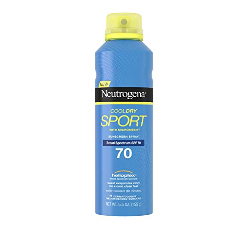 Neutrogena CoolDry Sport Sunscreen Spray, SPF 70 5.5 oz (155 g) (Sunscreen Spray Neutrogena)
