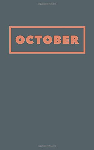 October: Cute Monthly Lined Journal in Gray and Orange (Awesome Halloween Party Favors)