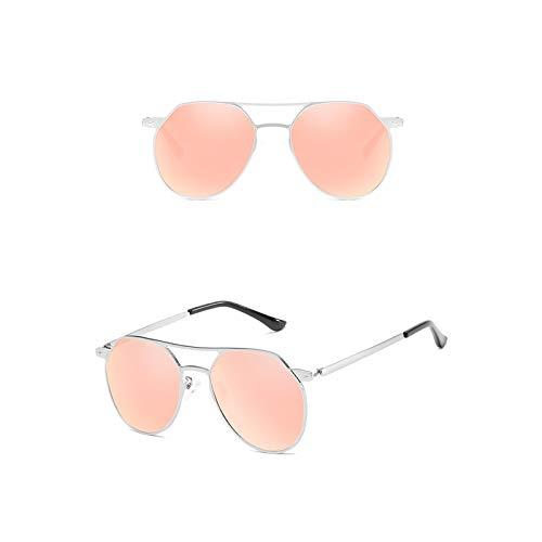 SonMo Sonnenbrille Damen Sonnenbrille Vintage Mode Pilotenbrille Weiß Rosamit Uv400 Schutz für Autofahren Reisen Golf Party Und Freizeit