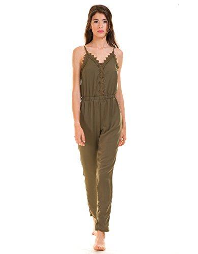 VILA CLOTHES Damen Vilany Jumpsuit, Grau (Granite Grey) - 4