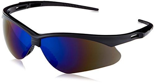 Jackson Safety 3000358 Nemesis Safety Glasses Black Frame Blue Mirror Lens f0977f3cf8a8