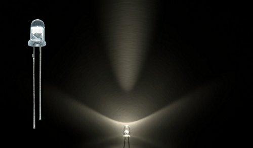 ProGoods 50x LED 5mm warmweiss rund|radial bedrahtete Leuchtdiode|energieeffizienter als herkömmliche Lampen|für Modellbau,Innenraumbelechtung,usw.|Antistatikverpackung|lange Lebensdauer