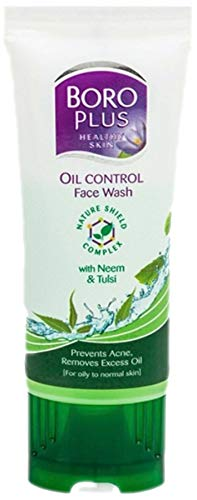 Oil Control Face Wash (Boro Plus Oil Control Face Wash with Neem & Tulsi (Gesichtsspülung) 50ml)