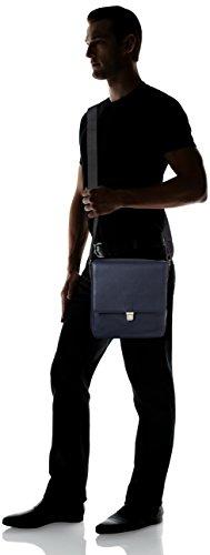 Ecco Herren Jos Crossbody Schultertasche, 6x25x23 cm Blau (Blue)