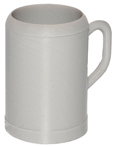 alles-meine.de GmbH Miniatur - 3 Stück - Bierkrüge / Biergläser - in grau - Bier - für Puppenstube Maßstab 1:12 - Krug - Puppenhaus - Puppenküche Küche - Diorama / Bierhumpen - H..