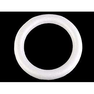 10pc Blanco de la espuma de Poliestireno Corona de Ø30 Cm, Suministros de Artesanía, Decoración
