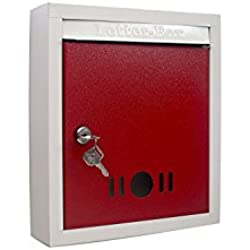 SAI High Grade Metal Mail Box / Letter Box (Red)