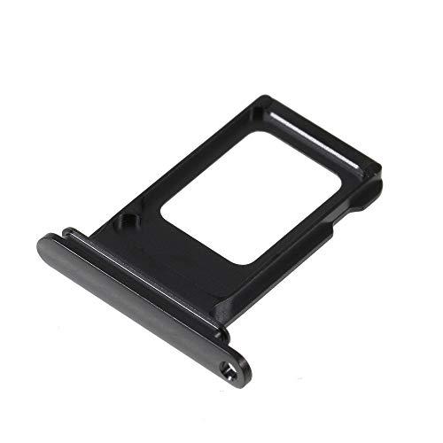 y #S74 passend für Apple iPhone XS Max - Karten-Halter Schlitten SIM-Halter Karten-Rahmen Slot Holder, Farbe:Dunkelgrau ()