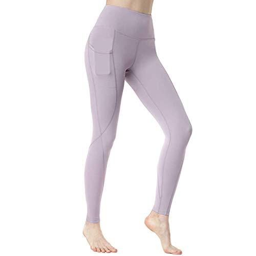 YCQUE Damen Sporthose, Frauen Yogahosen Einfache Klassische Einfarbig Workout Out Pocket Leggings Fitness Sport Laufen Yoga Athletic Pants Yoga Leggings FüR Frauen Lange Laufhose Air Pants
