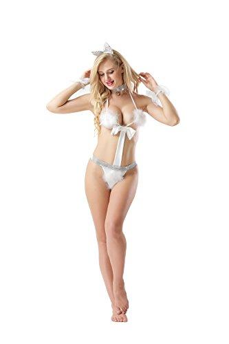Cctiwee Frauen Freche sexy Unterwäsche Dame Lingerie Bunny Headdress Adult Sexy Kaninchen Frau Cosplay (Kostüm Bunny Katze)