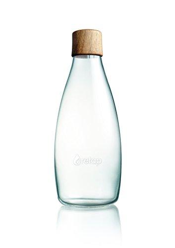Retap Flasche 0,8l Holzdeckel