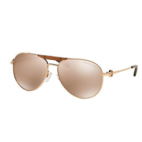 Michael Kors Damen Zanzibar MK5001 Sonnenbrille, Rosa roségold 1003R1), Large (Herstellergröße: 58)