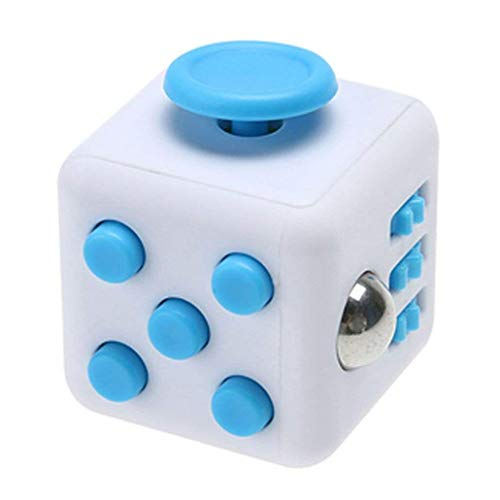 Fidget Toy Cube Toy Anxiety Attention Stress Relief Stocking stuffer Relieves Stress Blue