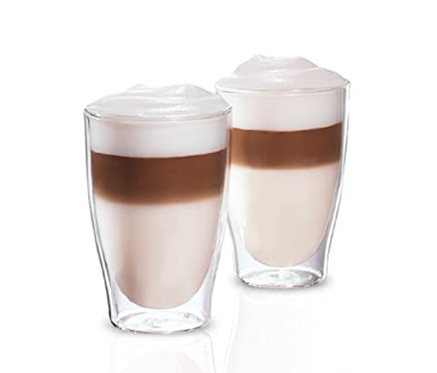 Tchibo Cafissimo Latte Macchiato Gläser Tassen 2er Set doppelwandig Thermoglas