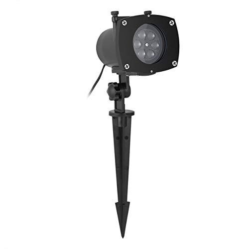 EdBerk74 LED schaltbare Dias wasserdicht funkelnde Projektor Lichter Holiday Decor, schwarz