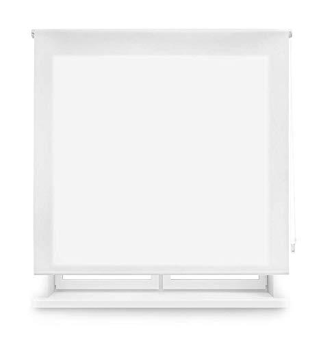 MERCURY TEXTIL Estor Enrollable translúcido Liso (Blanco, 120x180cm)
