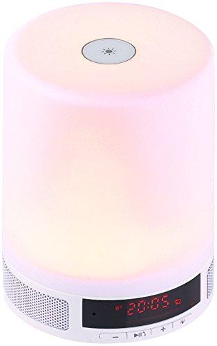 Lunartec Wake Up Light: Lautsprecher m. Bluetooth & LED-Tischleuchte,Sonnenaufgangs-Simulation (Wecklicht)
