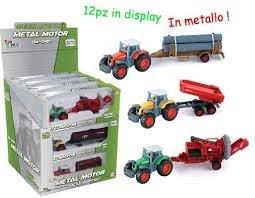 Toys Garden-Die Cast Tractores, Multicolor, 3.tg26331