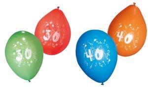 "TARJETA DE SUSY - SUSY CARD Luftballons""Zahl 40"", farbig sortiert"