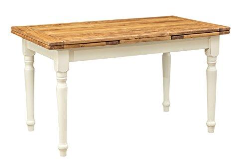 Mesa extensible de estilo country de madera maciza de tilo ...