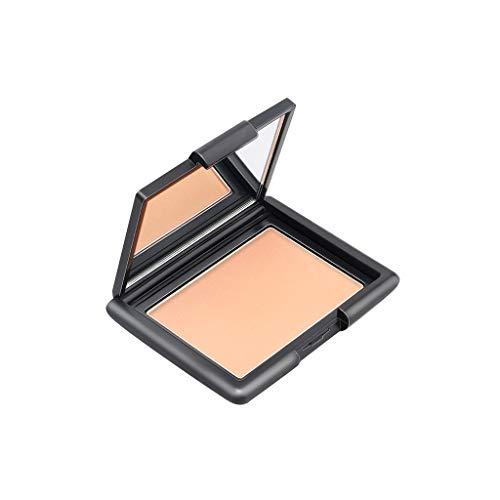 kuygdvd-UK Pastel de polvo Tricolor Polvo Facial Natural Fundaciones minerales Control de aceite Blanqueo natural poros invisible impermeable duradero (D)