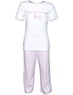 Kinder Schlafanzug für Mädchen Pyjama Süß und Verträumt Weiss /Herzchen Louis & Louisa
