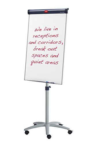Best Saving for Nobo Barracuda Mobile Easel Whiteboard Flipchart with Magnetic and Height-Adjustable, 1000 x 700 mm – White Special