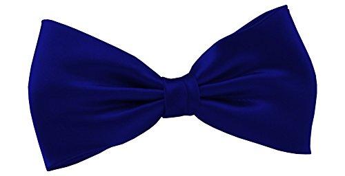 ADAMANT® Designer Fliege vorgebunden in Geschenkbox, verschiedene Farben - TOPQUALITÄT - 6cm schmal ° Schleife ° Einfarbig / Uni (royalblau) (Blau Royal Kaschmir)
