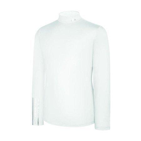2014 Adidas 3-Stripes Collar Logo Kompression Thermal Base Layer Herren-Weiß-XXL (Herren Thermal-shirt 2012)