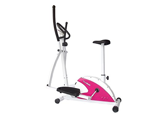 Fitness House Dual Fh Ellittica e Cyclette 2 in 1, Bianco, Standard
