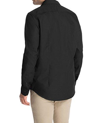 ESPRIT Collection - 995Eo2F901, Camicia formale da uomo,  manica lunga, collo classico nero(Schwarz (Black 001))
