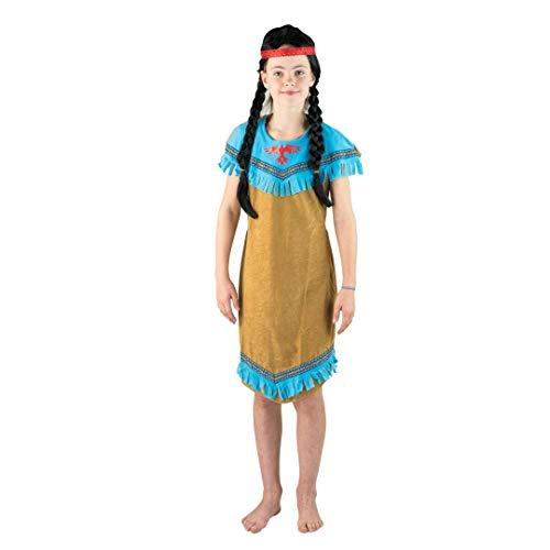 (Bodysocks® Mädchen Blue Indian Kostüm (7-10 Jahre))