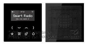 Jung Smart Radio - Set Mono Serie LS Schwarz, 1 Stück, RAD LS 918 SW