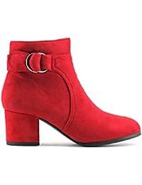 Amazon.es  botines tacon ancho - MODELISA   Botas   Zapatos para ... f470b1906c77
