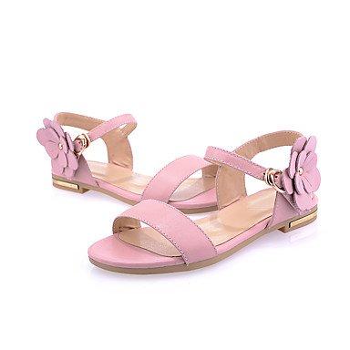 LvYuan Da donna-Sandali-Ufficio e lavoro Formale Casual-Altro-Piatto-PU (Poliuretano)-Rosa Verde chiaro Pink