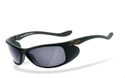 Helly® - No.1 Bikereyes® | H-FLEX®- unzerbrechlich, beschlagfrei, HLT® Kunststoff-Sicherheitsglas nach DIN EN 166 | Bikerbrille, Motorradbrille, Sportbrille | Brille: top speed 4