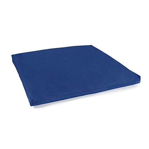 Lotuscrafts Meditationsmatte Zabuton Deluxe - Extra Dick - Meditationskissen Unterlage für entspannte Meditation - Waschbarer Bezug aus 100{d3b349fa41418cb0461b0841310d6e22e9312db3602bd317e8c648b1190cd2e9} Baumwolle - GOTS Zertifiziert (Himmelblau)