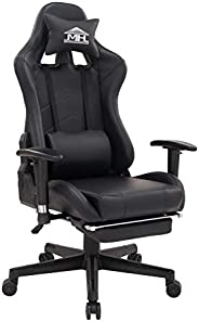 Multi Home Furniture RJ-8887 Video Computer Gaming Chair with fully reclining foot rest and soft leather
