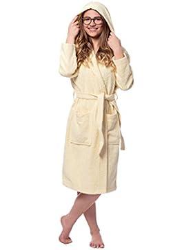 ZOLLNER® Albornoz para niños de 12 a 15 años / albornoz infantil / albornoz de baño con capucha, talla 12/15 algodón...