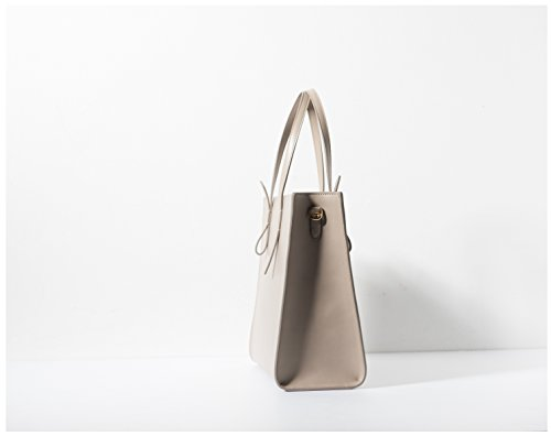 Customisation | Patent Leather Top-handle Bag Purse Handbag for Women (Pearl Gray) Pearl Gray