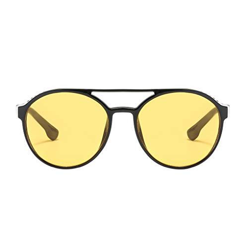Junecat Steampunk Sonnenbrille Frauen Männer Retro Brille Runde Brille Dampf-Punk-Klassiker UV400 Eyewear
