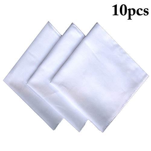 Justdolife 10PCS Baumwolltaschentücher DIY Klassisch Taschentücher Tasche Taschentücher -