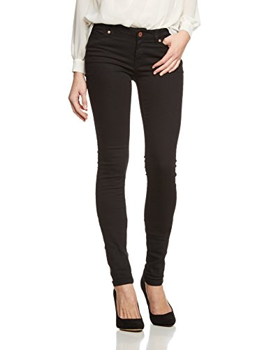 NOISY MAY - Nmeve Lw Supslim Clean Black Jeans Noos, Jeans da donna, Black, 46 IT (32W/32L