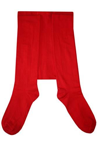 Weri Spezials Herrenstrumpfhose mit Eingriff Glatt in Rot Gr. 50-52