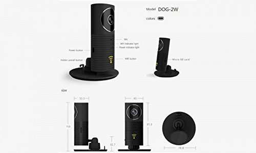 Aquarius Clever Dog 960P HD Camera 360 Panoramic WiFi Wireless Baby and Pet Home Security Monitor with iPhone/Android App 6