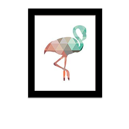Schlafzimmer-art-print (Clode® Leinwand Wandaufkleber Wandtattoo Wandsticker ,Geometrische Coral Flamingo Canvas Art Print Poster Wand Aufkleber Für Schlafzimmer Wohnzimmer Hintergrund (S))