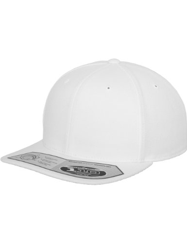 Weiß Fitted Hat Cap (Flexfit 110 Fitted Snapback, Farbe White)