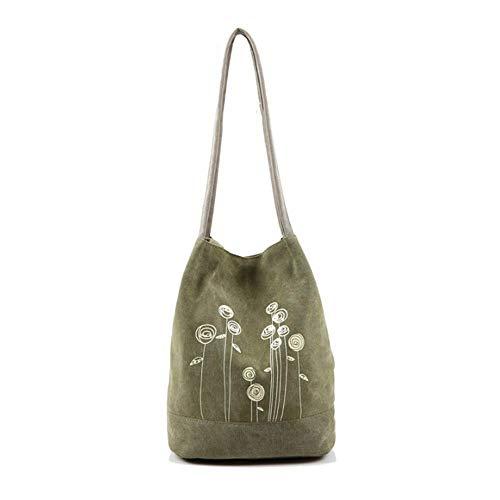 Yunnxi Canvas Tasche Öko-einfach große Kapazität einzelner Umhängetasche einkaufen Reisetasche