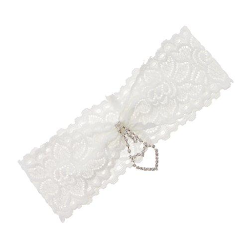Homyl Romantisch Herzform Strumpfband Spitze Schleifenform Garter Bein Brautspitze, passt an allen...